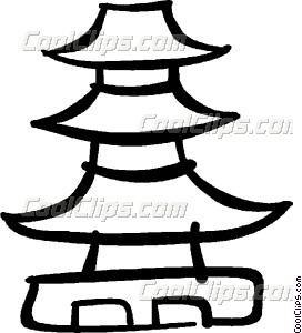 Pagoda clipart Clip Vector art Pagoda Pagoda