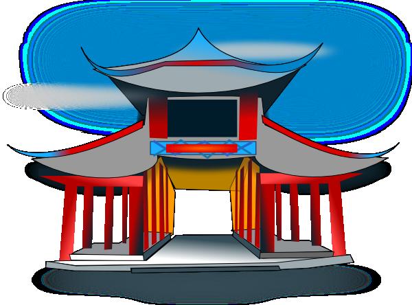 Pagoda clipart #13