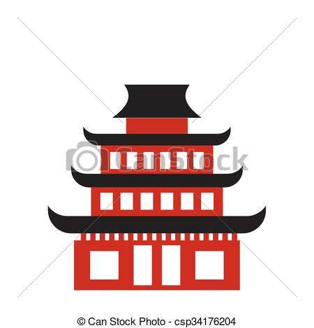 Pagoda clipart chinese palace Clipart Vector Buddhist isolated Pagoda