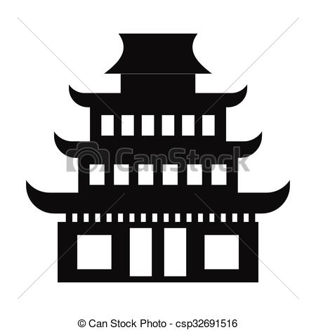Pagoda clipart Background csp32691516 on of simple