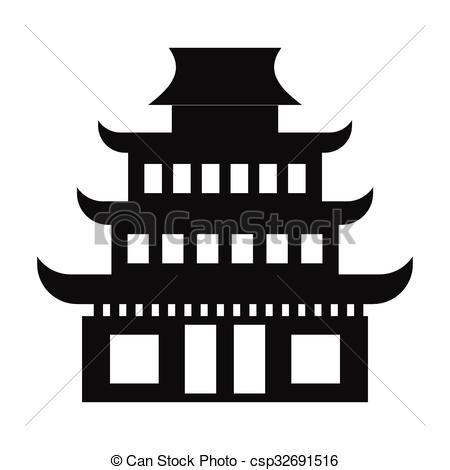 Pagoda clipart #15