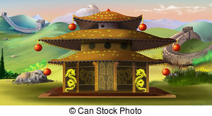 Pagoda clipart ancient china Digital Pagoda Clipart Chinese and