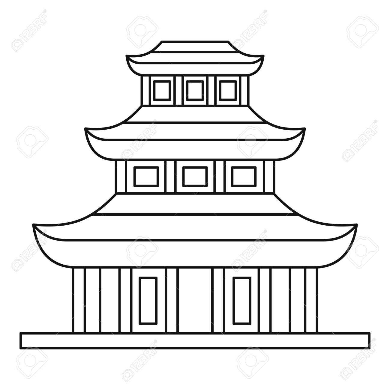 Place clipart buddhist temple #10