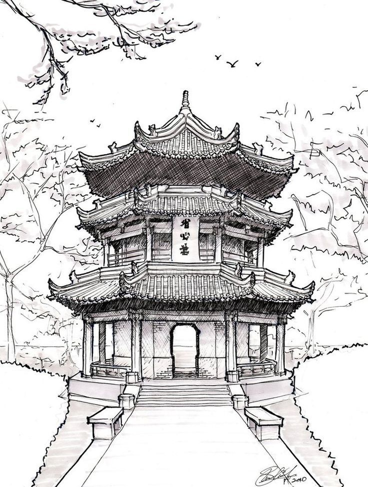 Drawn samurai temple Google drawings Chinese Best ideas