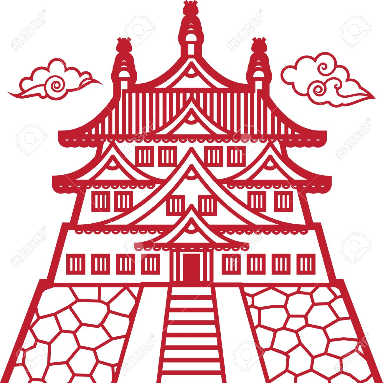 China Town clipart chinese palace Vector chinatown Design chinese how