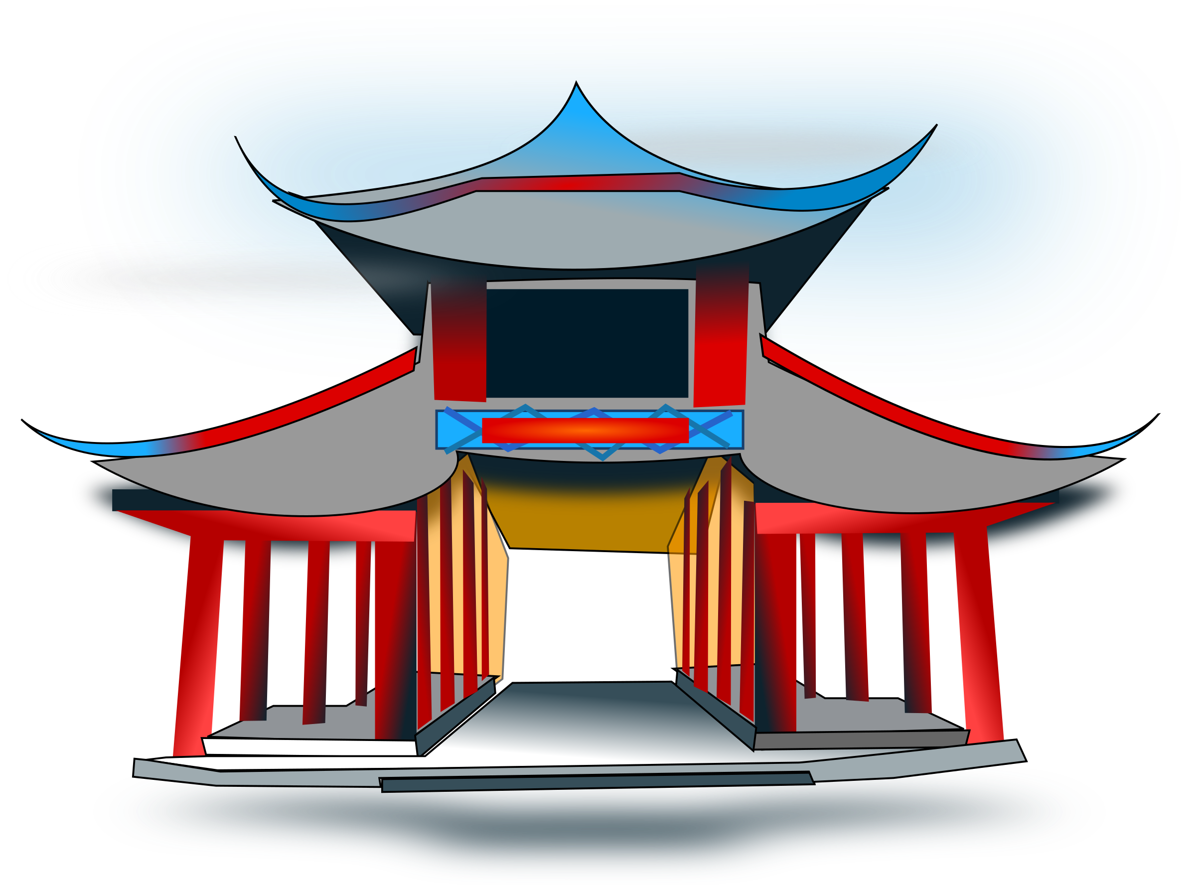 Temple clipart chinese temple Chinese Architecure Clipart Architecure Chinese