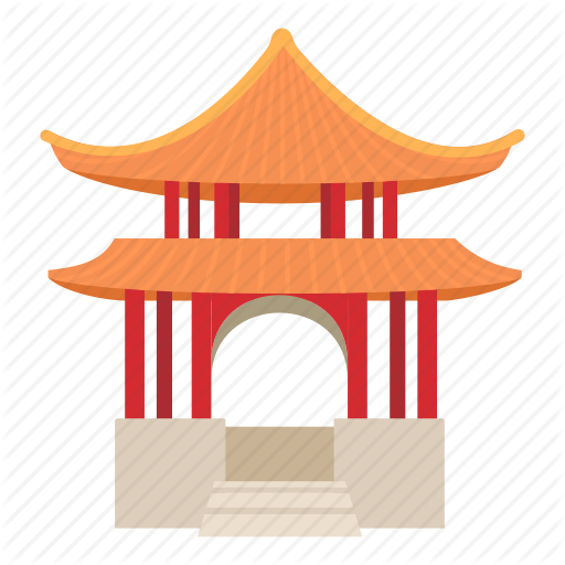 Pagoda clipart chinese culture Culture icon chinese pagoda building