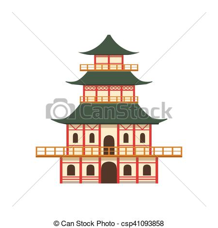 Pagoda clipart chinese culture Object csp41093858 Vector Japanese