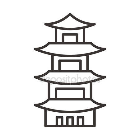 Pagoda clipart chinese house Temple Chinese Stock Free icon