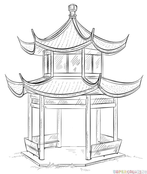 Pagoda clipart chinese palace Chinese kids step Chinese tutorials