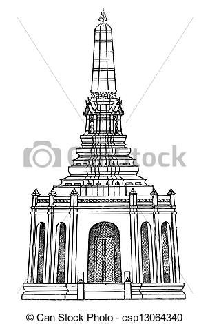 Thailand clipart pagoda #1
