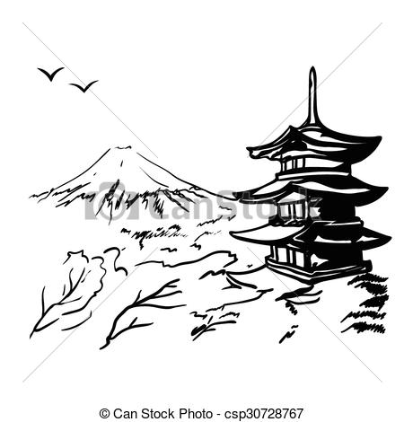 Pagoda clipart japan temple Mount Clip  and with