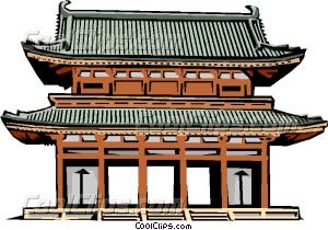 Pagoda clipart japan temple Japanese Clip art Vector Gate