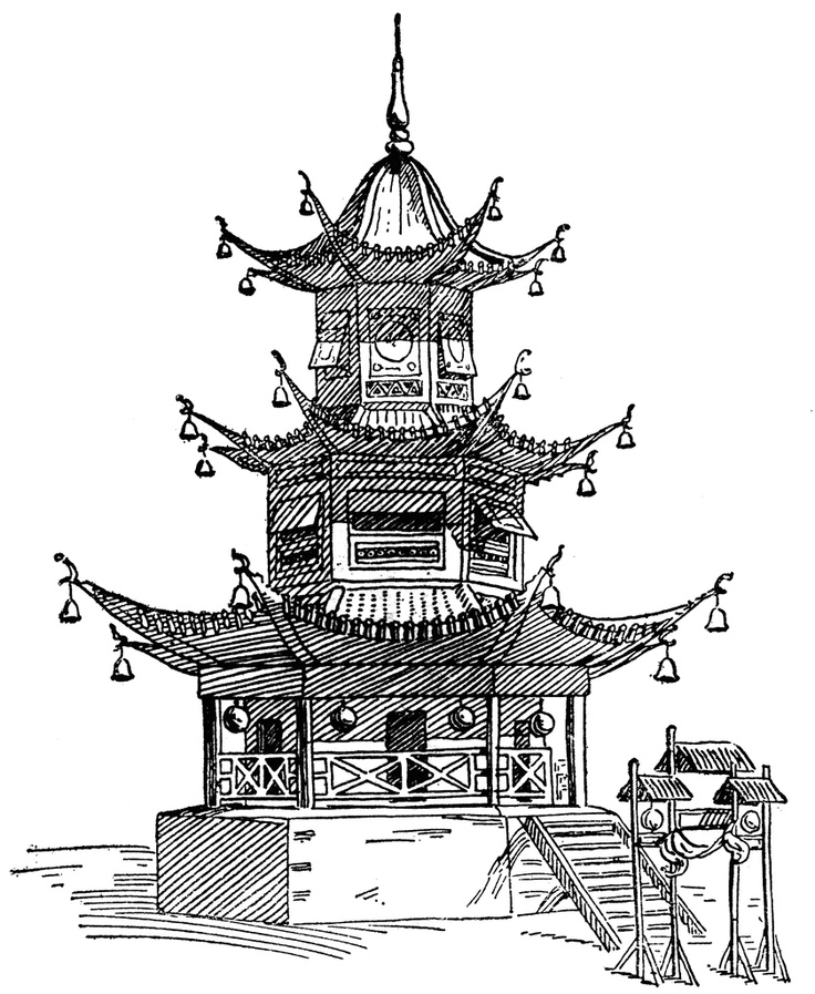 Pagoda clipart chinese palace On 53 Pinterest pagoda thai