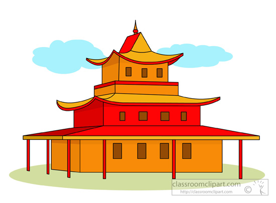 Place clipart buddhist temple #1