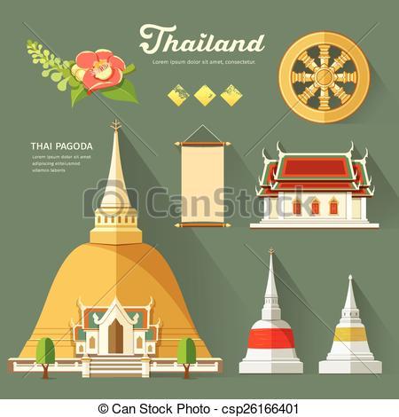 Thailand clipart pagoda #2