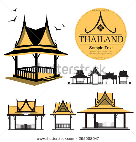 Thai clipart thai house Design Search restaurant logo Search