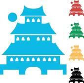 Pagoda clipart vihara Japanese pagoda japanese background grunge