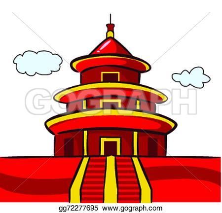 Pagoda clipart vihara Vector Famous Chinese Set icons