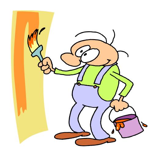 Paint clipart Kid illustrations Cartoon Clipartix painting