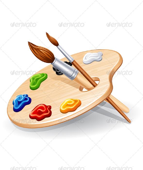 Paint clipart art pallet Palette Palette Icon illustrations