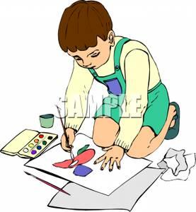 Paint clipart boy painting Watercolor Royalty Free Clipart Paints