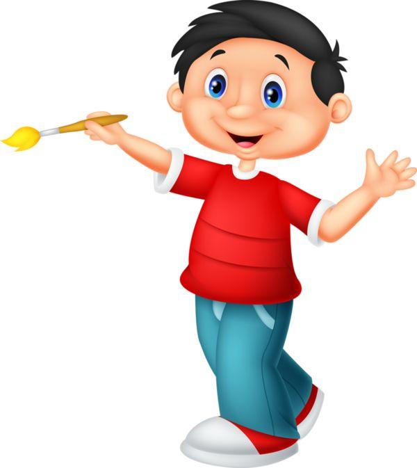 Paint clipart boy painting Best 124 personnages Boys*~ Art