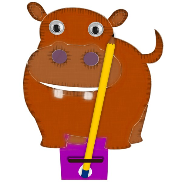 Paint clipart holder Pencil Your hippo Own Design
