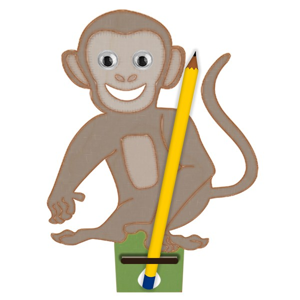 Paint clipart holder Pencil Your monkey Own Design