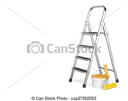 Paint clipart ladder Paint Home Improvement Illustrations