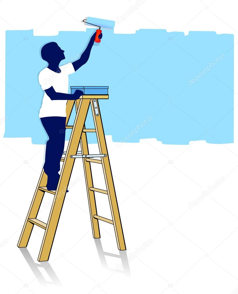 Paint clipart ladder © — Stock on #4232579