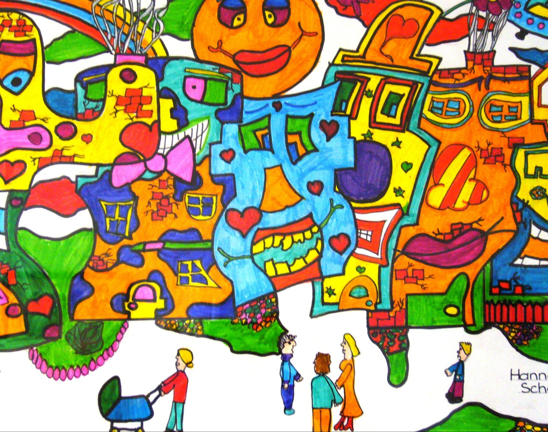 Paint clipart student painting Colorful painted clip cartoon colorful