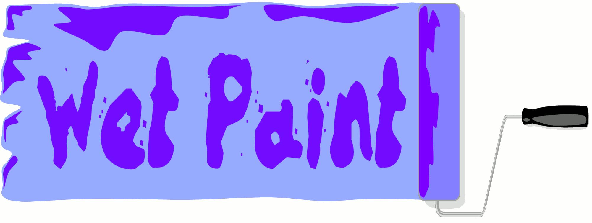 Paint clipart wet paint Inspiration Clipart Wet and Cliparts