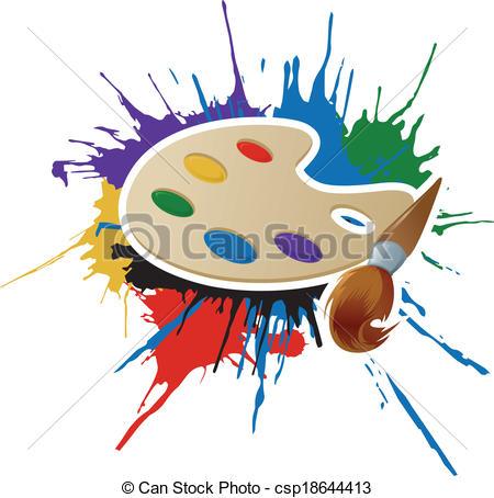 Palette clipart graphic design Clip csp18644413 palette Paint and
