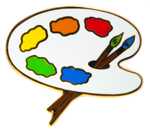 Artwork clipart art pallet Free Palette and paint Boy
