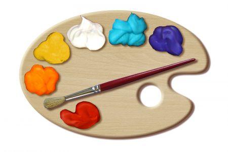 Painting clipart artist palette Art clip; The of Paint