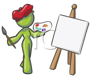 Palette clipart blank Canvas Canvas Clipart Painting Download