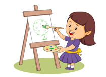 Paint clipart student painting Clipart Painting Girl Art Clip