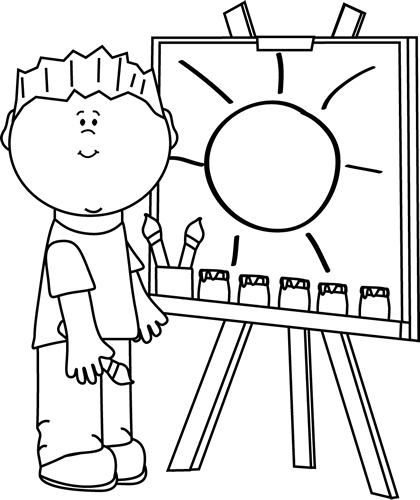 Artwork clipart boy painting Painting Painting and Clip Art
