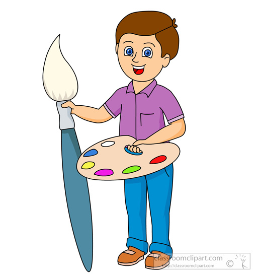 Brush clipart boy Art Supplies From: paint for