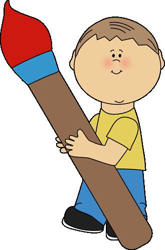 Brush clipart boy Art Art Clip Class Images