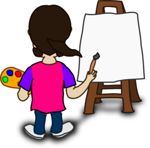Artistic clipart person painting Cartoon Clipart Download Painting Painting