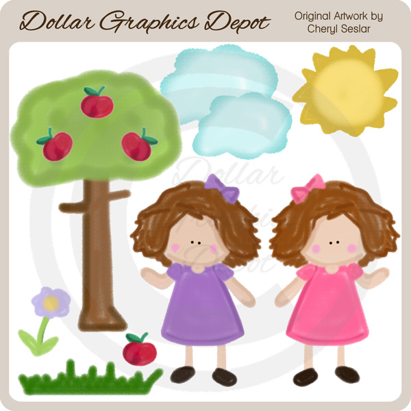 Crayon clipart apple Girls / Depot Kids Clip