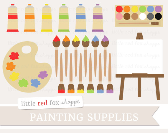 Palette clipart painting material Painting Clipart Teacher Supplies Painting