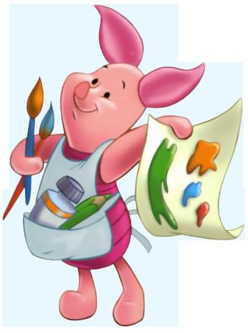 Paint clipart disney Piglet Clipart  Paint Piglet