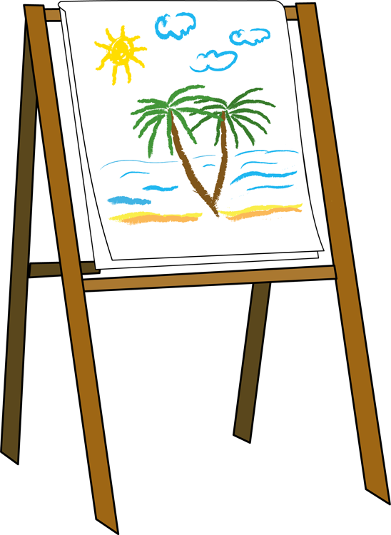 Gallery clipart artist easel Art with  easel art