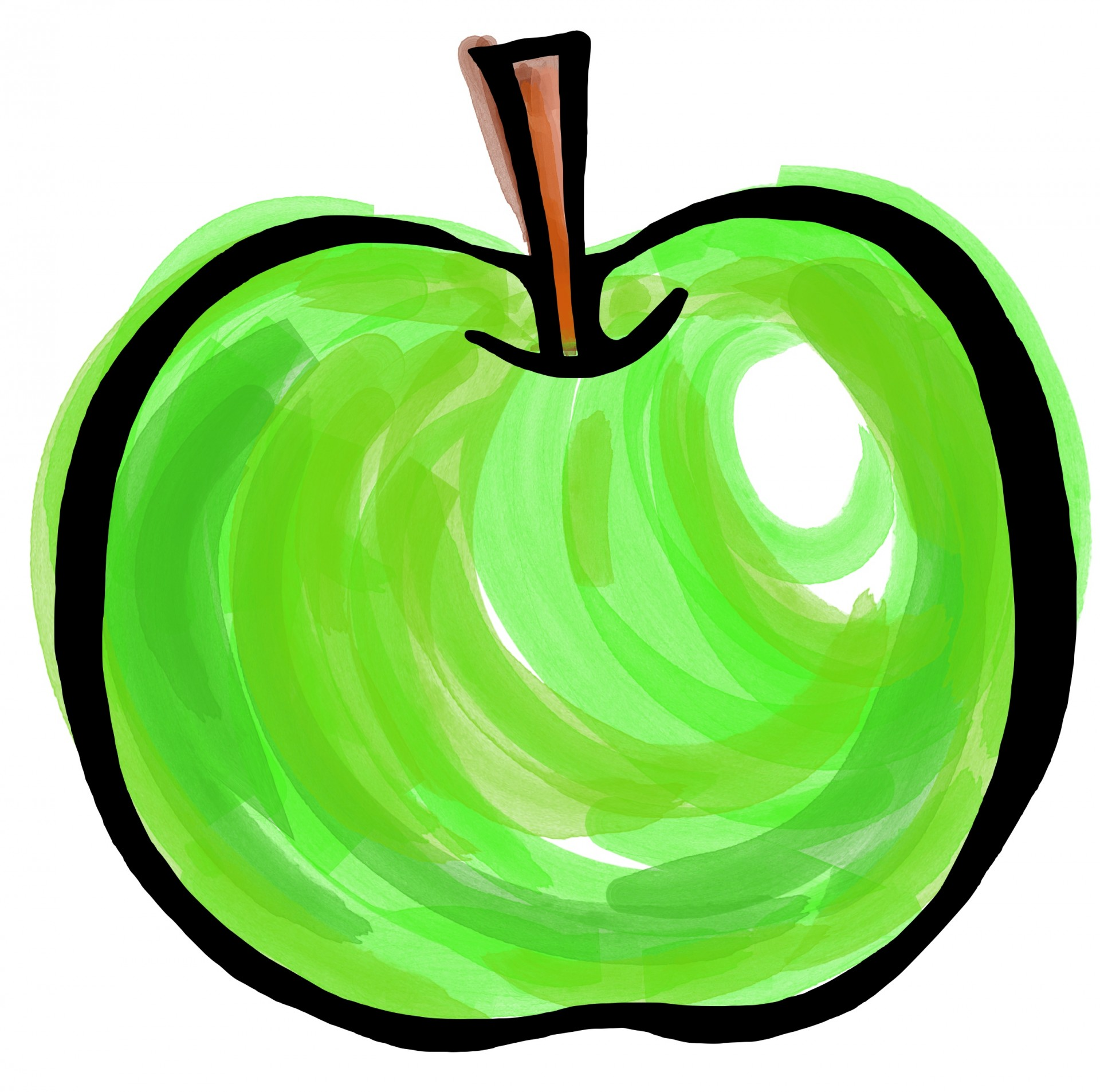 Painting clipart green Others Apple Green Painting Cliparts