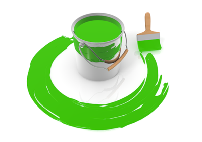 Painting clipart green Free paint Green Image material