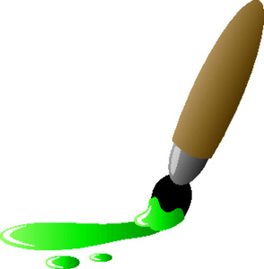 Painting clipart green Paintbrush Image: Clipart Painting Paint