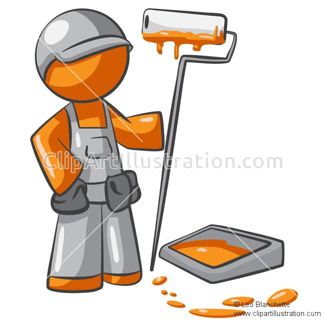 Paint clipart professional painter Professional Home Man Illustration Man